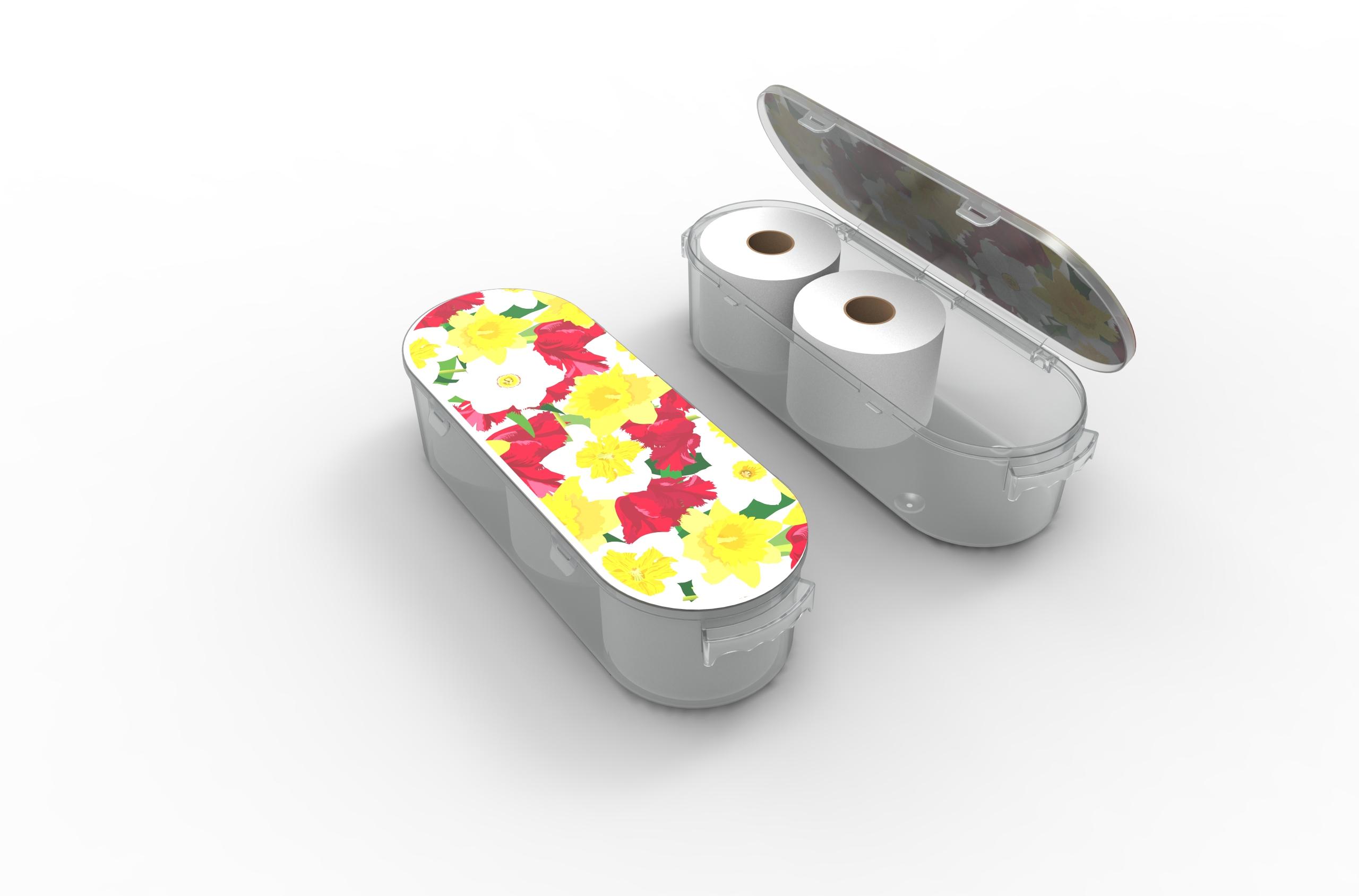 Nykia Designs Bathroom Toilet Paper Storage Solution - Flowers