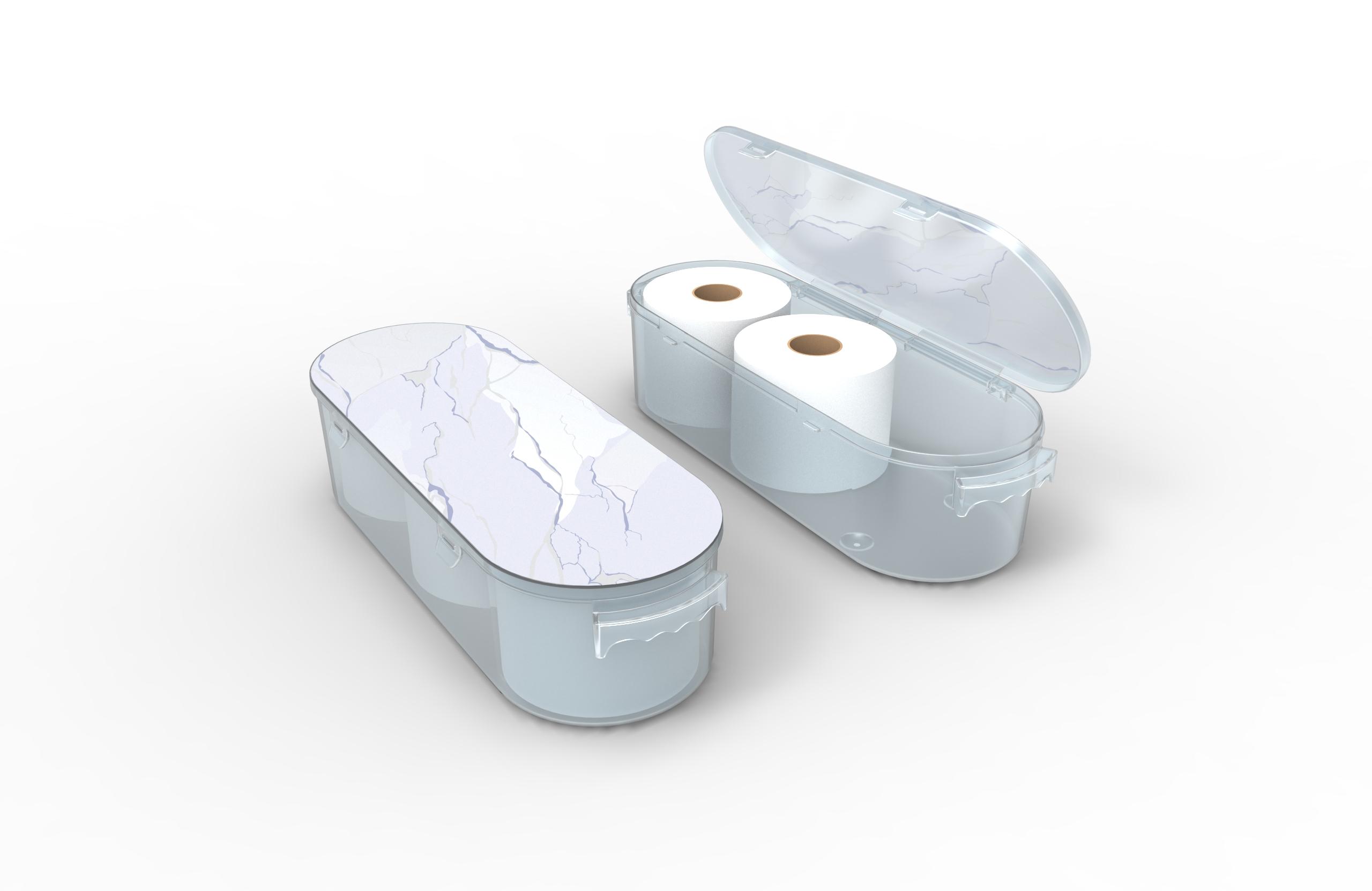 Nykia Designs Bathroom Toilet Paper Storage Solution - Marble