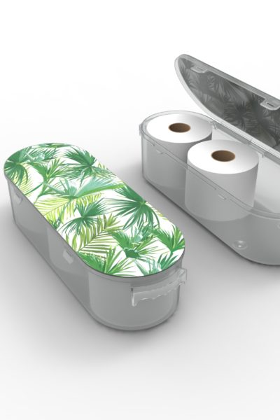 Nykia Designs Bathroom Toilet Paper Storage Solution - Palm Leaves