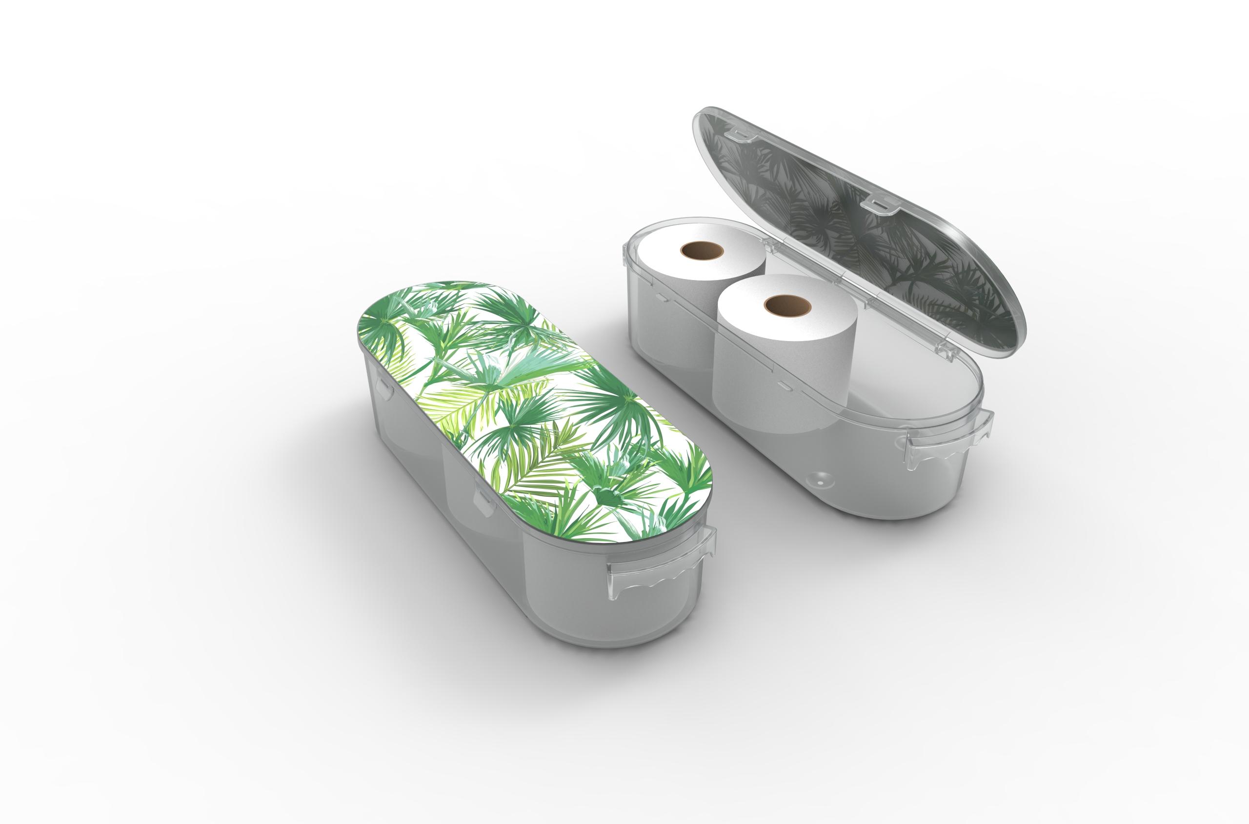 Nykia Designs Bathroom Toilet Paper Storage Solution - Palm Leaves