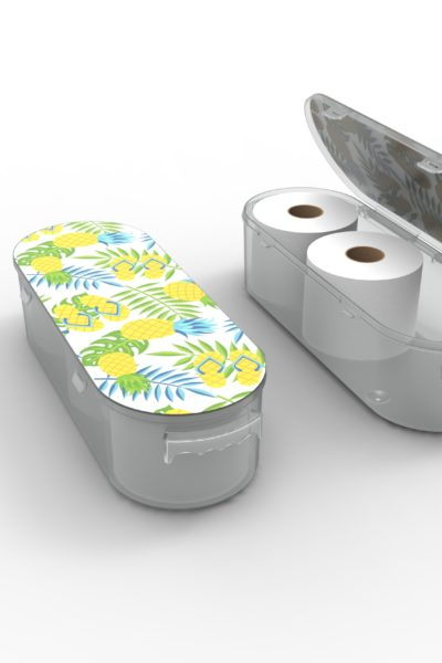 Nykia Designs Bathroom Toilet Paper Storage Solution - Pineapples
