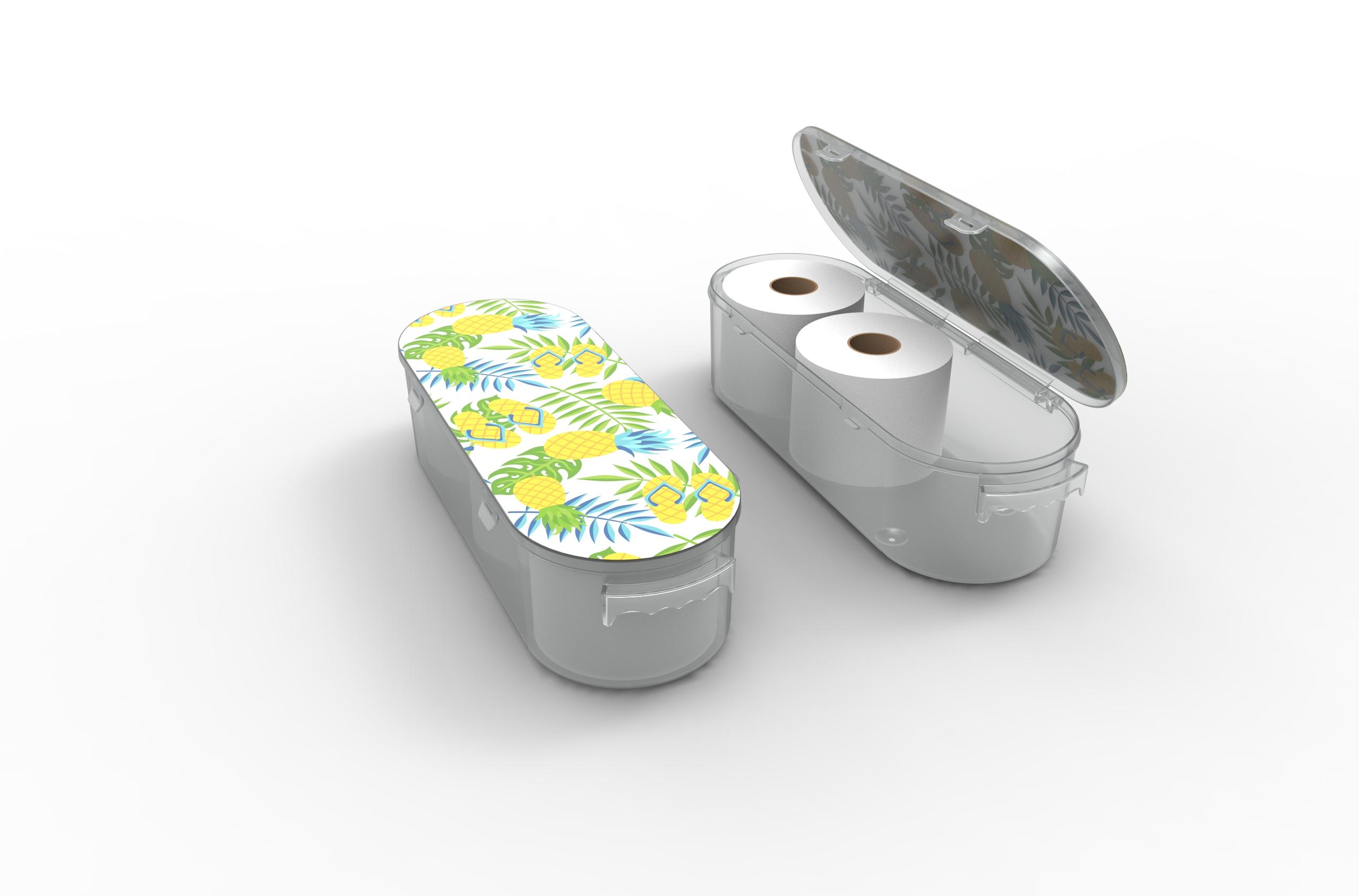 Nykia Designs Bathroom Toilet Paper Storage Solution - Pineapples