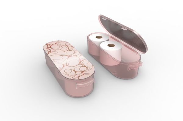 Nykia Designs Bathroom Toilet Paper Storage Solution - Rose Gold