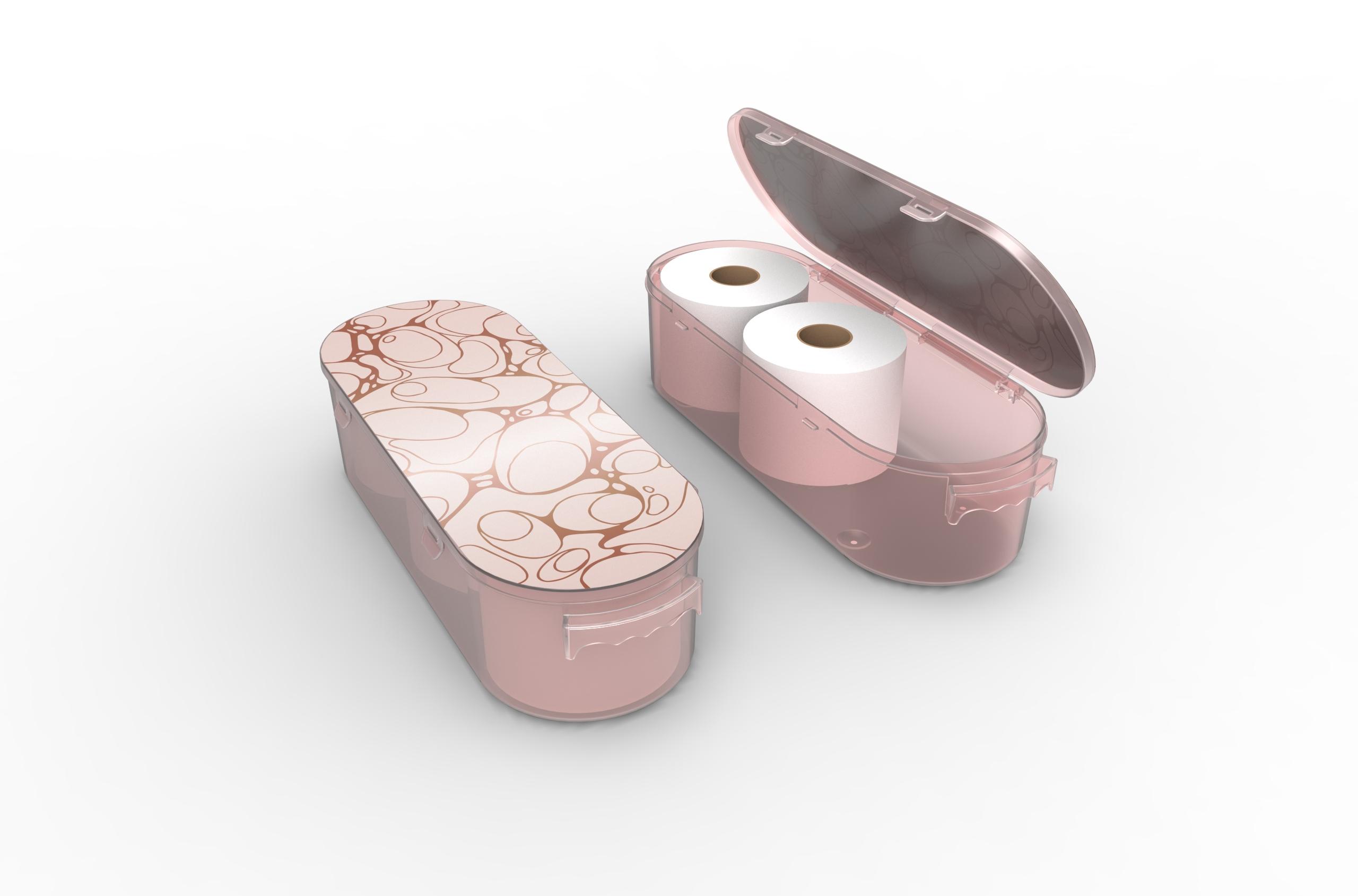 Nykia Designs Bathroom Toilet Paper Storage Solution - Rose Gold
