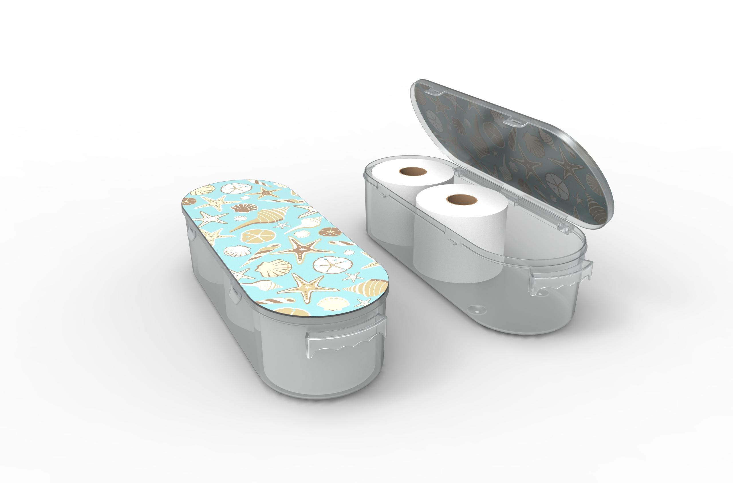 Nykia Designs Bathroom Toilet Paper Storage Solution - Sea Shells