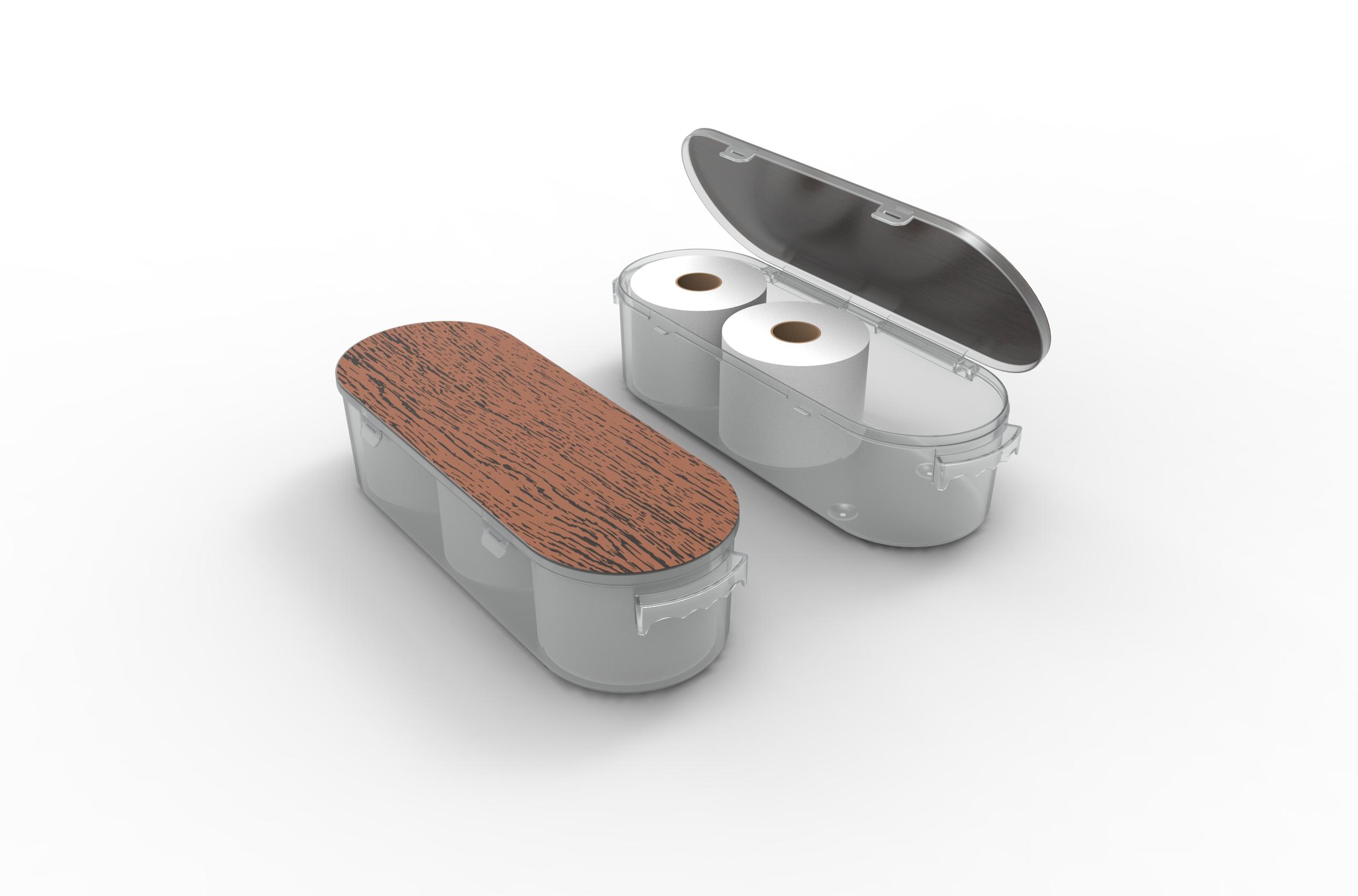 Nykia Designs Bathroom Toilet Paper Storage Solution - Wood