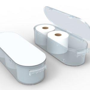 Nykia Designs Koribox Clever Toiletpaper Storage Bathroom Storage - Pure White